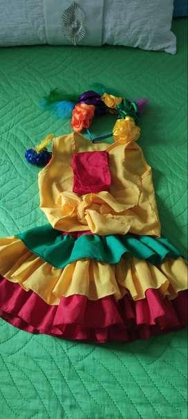 Disfraz de niña talla 4 a 6 años