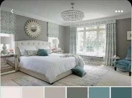 Pintor de casas profesional, diseño de interiores.