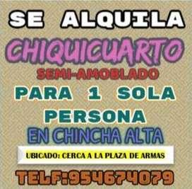Se alquila pequeño cuartito en Chincha Alta cerca al Hospital San José