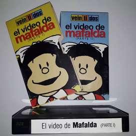 Mafalda, el video, partes 1 y 2, vhs