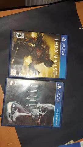 Dark souls 3 y Until Dawn juegos de PS4