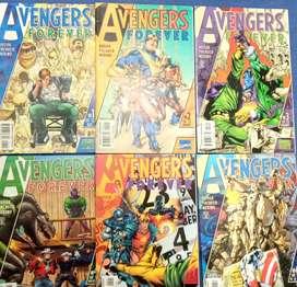 COMICS AVENGERS FOREVER 7 EJEMPLARES