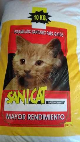 Piedras samitarias para gato x10kg