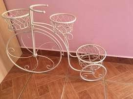 Bicicleta vintage+ cañería vintage blanco