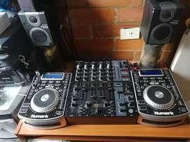 Unidades dj, mixer y monitores, vendo o cambio por controladora pionner
