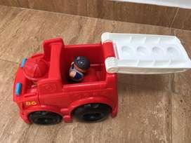 Carro de bombero para niños
