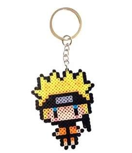 Naruto Hama Beads Llavero Kawaii