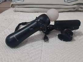Vendo 2 move de movimiento play 3 + camara PS3 todo original exelente estado