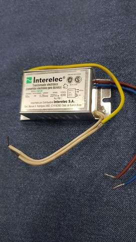 Transformador Para Dicroica 12v 60w 0.28amp Interelec