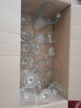 Set de fiesta vasos cristar
