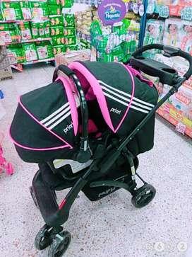 Coche + porta bebé