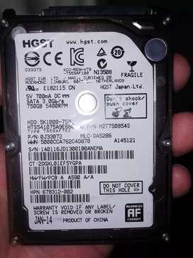 Vendo disco duro de portátil 750gb