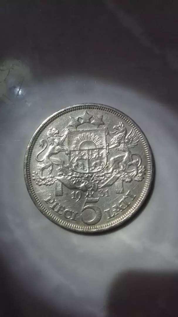 Moneda 5 lati Letonia 1931 0
