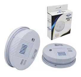 Alarma sensor de humo autonomo co  bateria