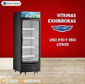 Nevera Vitrina Exhibidora Ecasa 250 - 310 - 350 Litros