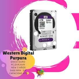 disco duro western digital purpura 4tb teras