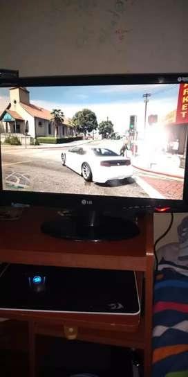 "Monitor LG 22"" CON ADAPTADOR HDMI"