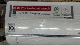 DUAL COOL INVERTER LG 12000 BTU, AIRE ACONDICIONADO SPLIT 220V, VM122C7. NUEVOS