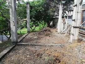 Vendo terreno con pilares echos