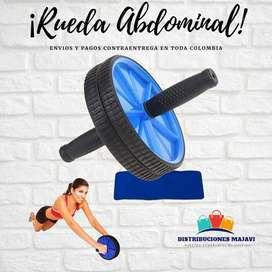 Rueda Abdominal Rodillo Ejercicio D Brazo Espalda + Tapete  Gym  + Envio Gratis
