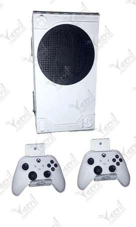 Soporte pared base Xbox series s más 2 soportes de control