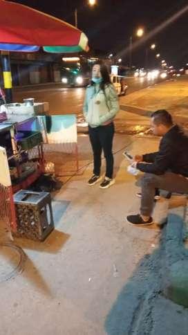Vendedor y comida