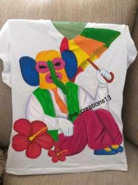Camiseta de carnaval pintada a mano