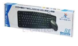 Combo Original STAR-TEC, Teclado  Mouse USB - ST-CB-71