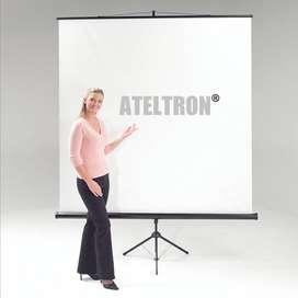 Telones vídeo proyección  trípode variadas medidas y formatos
