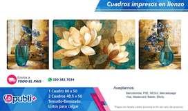 Cuadro Decorativo Lienzo Impreso PERSONALIZABLE Jarrones Florales 180.000 PUBLICIDAD VOLANTES TARJETAS