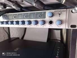 PreSonus FIRESTUDIO y PreSonus HP60. Amplificador de audífonos. 8 canales