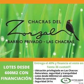 Loteo Chacras del Zorzal con FINANCIACIÓN