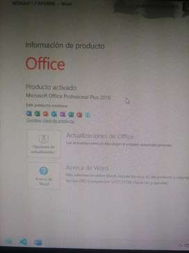 Instaló y activo Office profesional plus 2019 y 2016