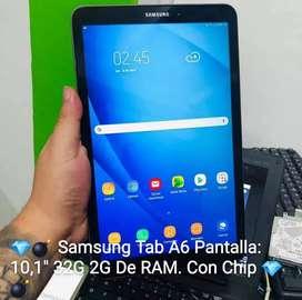 """Samsung Tab A6 Pantalla: 10,1"""" 32G 2G De RAM """"Con Chip""""."""
