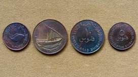 Moneda de 5 fils Emiratos Árabes Unidos 1973
