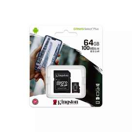 Memoria micro SD 64 GB Kingston Canvas plus