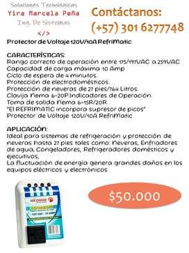 Protector de Voltaje 120V/10A Refrimatic