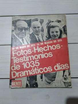 Libro Fotos Hechos Testimonios de 1035 Dramáticos días (Ver DESCUENTOS)