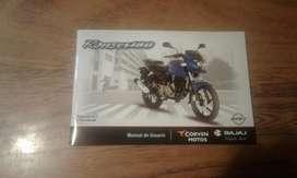 manual de moto bajaj rouser 180 perfecto estado modelo 2015