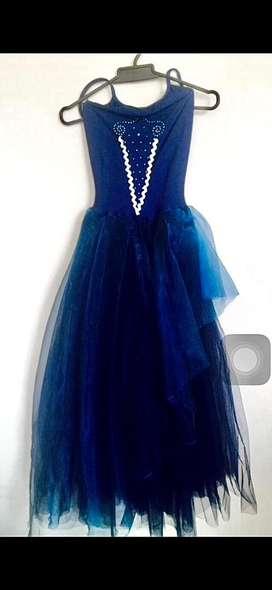 Vestido / disfraz tipo gala azul índigo