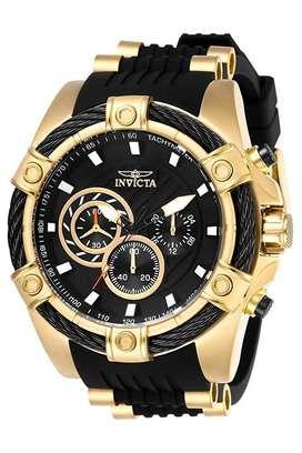 Reloj Hombre Invicta Bolt Gold Black Enchape Dorado 26818