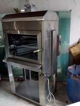 asador para 20 pollos mixto a carbón y a gas