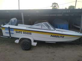 Vendo lancha Fishing 430 Open con Yamaha 40 hp, mod 2014