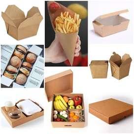Cajas o empaques para comida