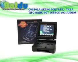 Consola Retro Portátil con Tapa - Tipo Game Boy , 400 Juegos