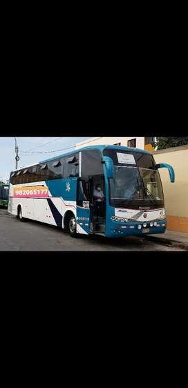 Vendo bus ómnibus año 2009 interprovincial de 55 asientos motor volvo 102