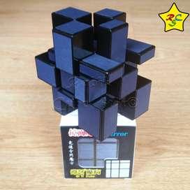 Cubo Rubik Mirror Carbono 3x3 Qiyi Speedcube Azul