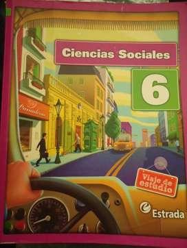 Libro para CIENCIAS SOCIALES 6º, edit Estrada, VIAJE DE ESTUDIO,