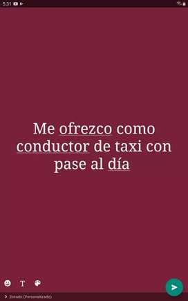 Me ofrezco como conductor de taxi