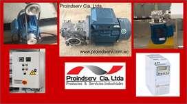 Motores, Moto-reductores, Variadores de frecuencia
